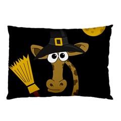 Halloween giraffe witch Pillow Case