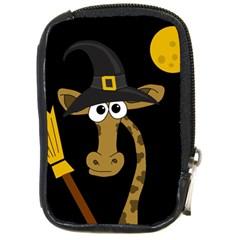 Halloween giraffe witch Compact Camera Cases