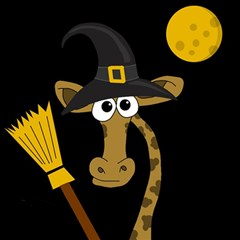 Halloween giraffe witch Magic Photo Cubes