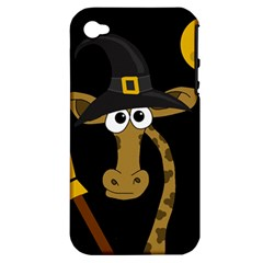 Halloween giraffe witch Apple iPhone 4/4S Hardshell Case (PC+Silicone)