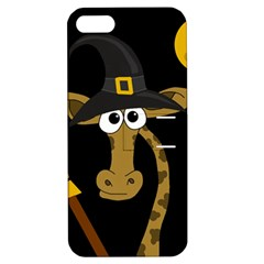 Halloween giraffe witch Apple iPhone 5 Hardshell Case with Stand