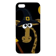 Halloween giraffe witch Apple iPhone 5 Premium Hardshell Case