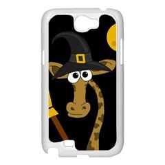 Halloween giraffe witch Samsung Galaxy Note 2 Case (White)
