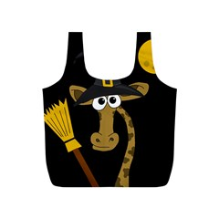 Halloween giraffe witch Full Print Recycle Bags (S)