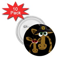 Giraffe Halloween party 1.75  Buttons (10 pack)