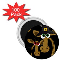 Giraffe Halloween party 1.75  Magnets (100 pack)