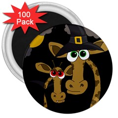 Giraffe Halloween party 3  Magnets (100 pack)