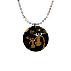 Giraffe Halloween party Button Necklaces