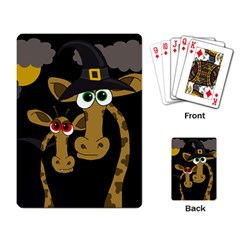 Giraffe Halloween party Playing Card
