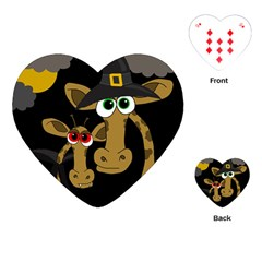 Giraffe Halloween party Playing Cards (Heart)
