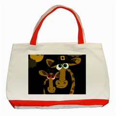 Giraffe Halloween party Classic Tote Bag (Red)