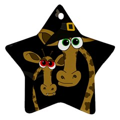 Giraffe Halloween party Star Ornament (Two Sides)