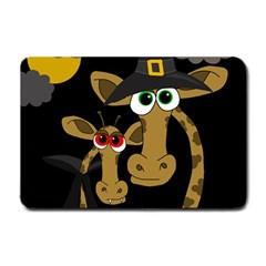 Giraffe Halloween party Small Doormat