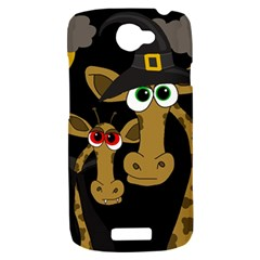 Giraffe Halloween party HTC One S Hardshell Case