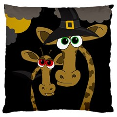 Giraffe Halloween party Large Cushion Case (Two Sides)
