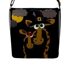 Giraffe Halloween party Flap Messenger Bag (L)