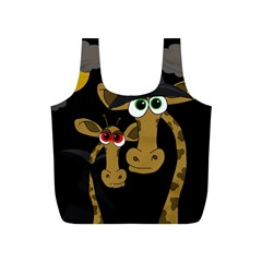 Giraffe Halloween party Full Print Recycle Bags (S)