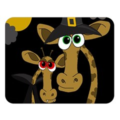 Giraffe Halloween party Double Sided Flano Blanket (Large)