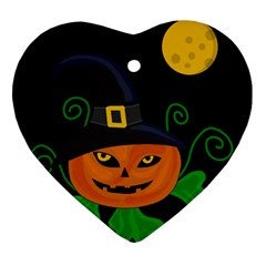 Halloween witch pumpkin Ornament (Heart)