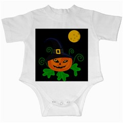 Halloween witch pumpkin Infant Creepers