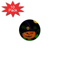 Halloween witch pumpkin 1  Mini Buttons (10 pack)