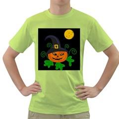 Halloween witch pumpkin Green T-Shirt