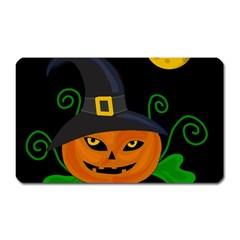 Halloween witch pumpkin Magnet (Rectangular)