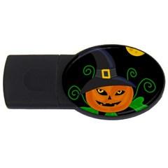 Halloween witch pumpkin USB Flash Drive Oval (1 GB)