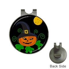 Halloween witch pumpkin Hat Clips with Golf Markers