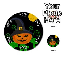 Halloween witch pumpkin Playing Cards 54 (Round)