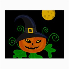 Halloween witch pumpkin Small Glasses Cloth (2-Side)