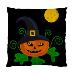 Halloween witch pumpkin Standard Cushion Case (Two Sides)