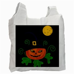 Halloween witch pumpkin Recycle Bag (One Side)