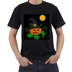 Halloween witch pumpkin Men s T-Shirt (Black)