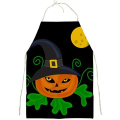 Halloween witch pumpkin Full Print Aprons