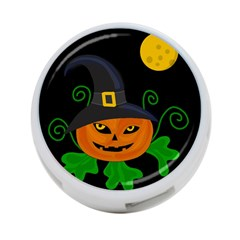Halloween witch pumpkin 4-Port USB Hub (One Side)