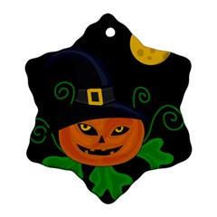 Halloween witch pumpkin Snowflake Ornament (2-Side)
