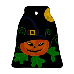 Halloween witch pumpkin Bell Ornament (2 Sides)