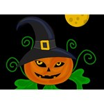 Halloween witch pumpkin You Did It 3D Greeting Card (7x5) Back