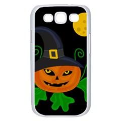 Halloween witch pumpkin Samsung Galaxy S III Case (White)