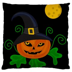 Halloween witch pumpkin Large Cushion Case (Two Sides)