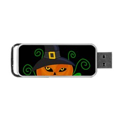 Halloween witch pumpkin Portable USB Flash (Two Sides)