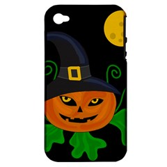 Halloween witch pumpkin Apple iPhone 4/4S Hardshell Case (PC+Silicone)