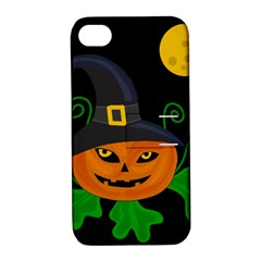 Halloween witch pumpkin Apple iPhone 4/4S Hardshell Case with Stand