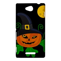 Halloween witch pumpkin Sony Xperia C (S39H)