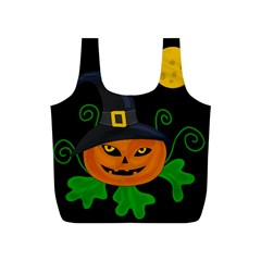 Halloween witch pumpkin Full Print Recycle Bags (S)