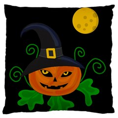 Halloween witch pumpkin Standard Flano Cushion Case (Two Sides)