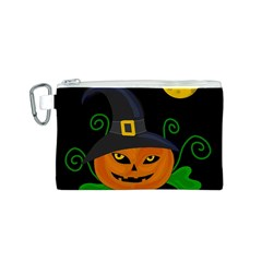 Halloween witch pumpkin Canvas Cosmetic Bag (S)