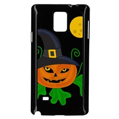 Halloween witch pumpkin Samsung Galaxy Note 4 Case (Black)