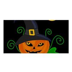 Halloween witch pumpkin Satin Shawl